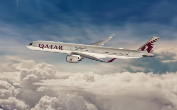 L'A350-1000 de Qatar Airways arrive à Paris