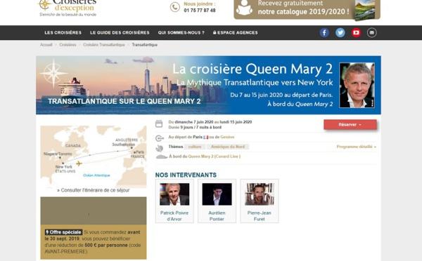 """Croisières d'Exception : la croisière Queen Mary 2 est le """"coup de coeur"""" de Voyages Girardot"""