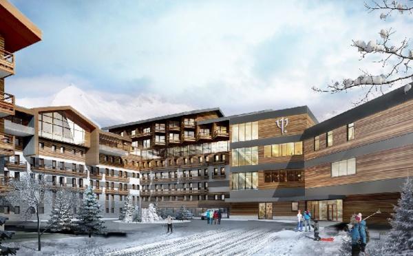 Club Med : pose de la première pierre du resort La Rosière (Savoie)