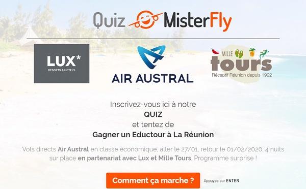 Réunion : Misterfly vous fait gagner 8 places en éductour