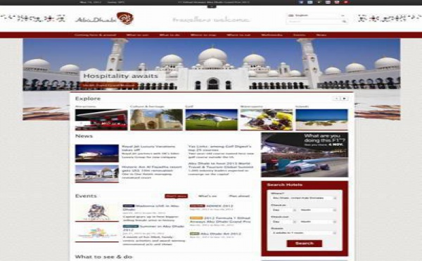 Abu Dhabi Tourism Authority : nouvelle version du site Internet
