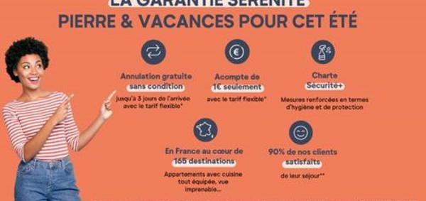 Mesures d'hygiène : Pierre & Vacances met en place une charte Sécurité+
