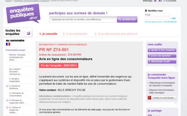 """""""Avis"""" aux amateurs : projet de norme pour fiabiliser méthodes de collecte et d'affichage"""