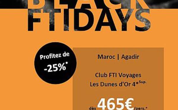Black Friday : FTI Voyages lance des réductions jusqu'à - 55%