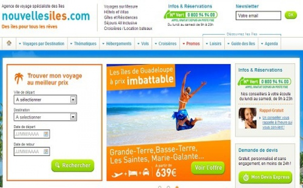 Nouvellesiles.com repense son site Internet pour plonger le visiteur au coeur du voyage