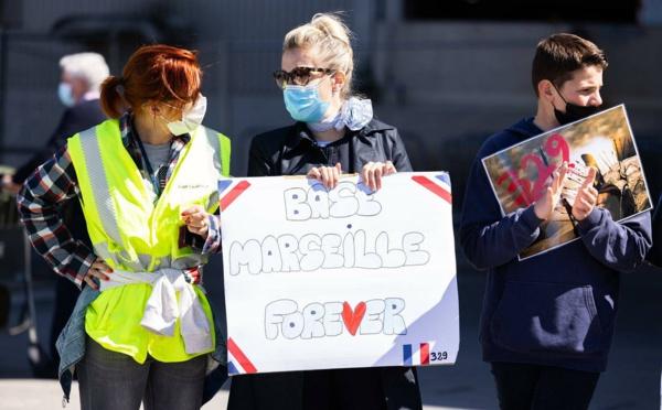 """Aéroport de Marseille : le rassemblement pour sauver les bases d'Air France a été """"un succès"""" (photos)"""