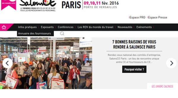 SalonsCE Paris ouvrira ses portes du 9 au 11 février