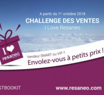 "RESANEO poursuit son opération challenge des ventes ""I love Resaneo"""