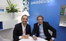 Nicolas Delord, président de Thomas Cook France et Gerges Rudas, PDG d'Amadeus France, ont signé un accord de partenariat pour implementer Gestour - (c) Johanna Gutkind