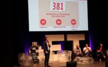 Nicolas De Dianous de We Like Travel présente les trophées Social Media sur la scène sur Palais Beaumont à Pau (c) Johanna Gutkind