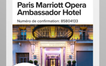 La nouvelle version de l'application Marriott Mobile est disponible sous iOS. Elle sera lancée en version Androïd très prochainement - DR : Marriott International