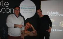 Arnaud Escabasse et Thierry Dumas de la Roque ont présenté leur site adopteunto.com - DR : J.G.