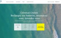 Capture d'écran du nouveau site Internet de Celestyal Cruises