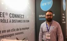 Benoit Texier, PDG de Life Design Sonore a présenté New'ee, une technologie qui s'intègre au mobilier et diffuse du contenu sonore. - CL