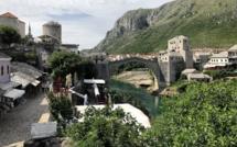 Le superbe paysage sur l'ancien nouveau pont de Mostar /photo JDL