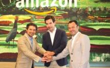 Victor Fernández, PDG du groupe Room Mate, Edouard Chabrol, directeur d'Amazon Pay en France, Espagne, Italie et Pablo Gago, chef de Stratégie et d'Innovation mondial de Room Mate Group - DR