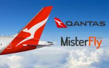 Les contenus Qantas sont disponibles sur MisterFly qui a signé une accord en Private Channel - DR