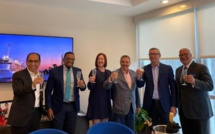 Les représentants de Royal Caribbean International et du gouvernement d'Antigua-et-Barbuda - DR