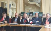 Dritan Tola (au centre), ambassadeur d'Albanie en France, le 26 février 2020 à Paris © PG TM