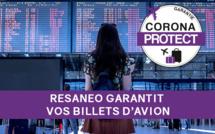 Avec CoronaProtect RESANEO inclut une garantie pour toutes les réservations de TOUS les billets d'avion