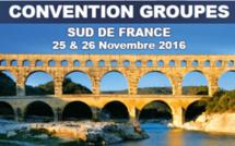 Languedoc-Roussillon, Midi Pyrénées : convention groupes les 25 et 26 novembre au Pont du Gard